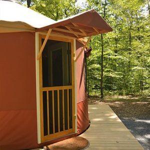 The door to a yurt