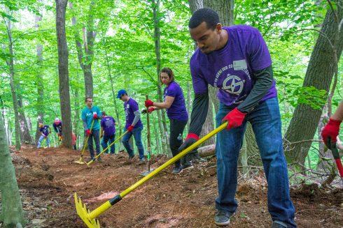 Green, Soil, Tree, Arbor day, Community, Woodland, Youth