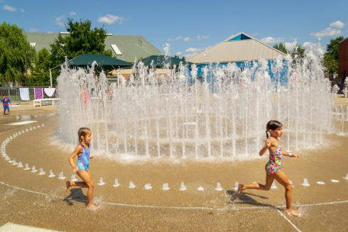 Water, Fountain, Water park, Fun, Child, Public space, Leisure