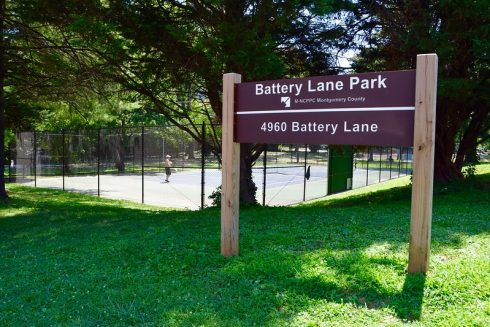 Battery Lane Park sign