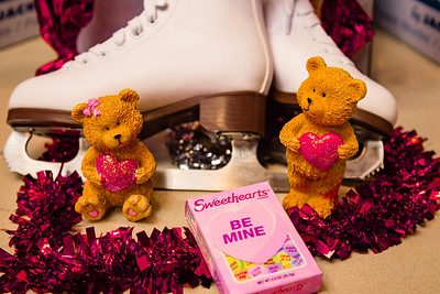Ice skates and Valentines Candy