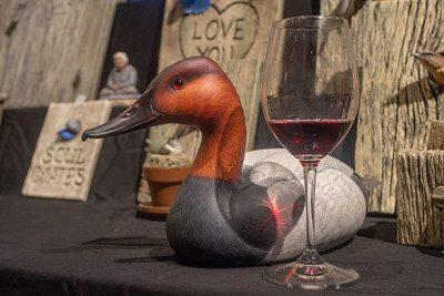 Wine Glass and Waterfowl