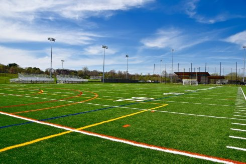 Sport venue, Grass, Artificial turf, Team sport, Stadium, Sky