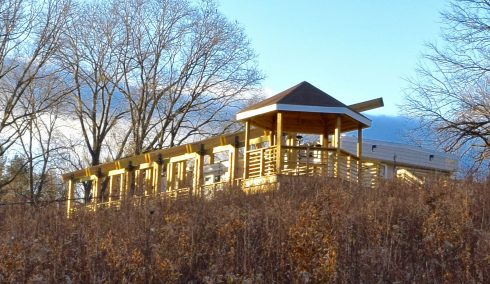 Picture of Maydale Nature Classroom from the meadow