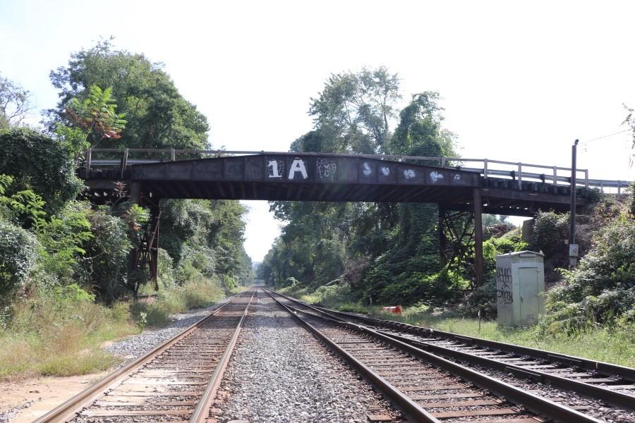 Talbot Bridge over railroad tracks