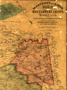 Image of a very old map of Montgomery County