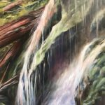 Falling Water, Oil by Gale Marcus $350 , Brookside Gardens