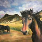 Wildhorses, Oil by Gale Marcus $600 , Brookside Gardens