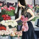 The Flower Market, Soft Pastel by Kathy Tynan $400, Brookside Gardens