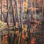 Autumn Woods Reflection photograph by Renee Ruggles $185