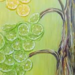 Lemon & Lime Tree, Mix Media by Simin Parvaz $550, Lemon, Lime, Brookside Gardens