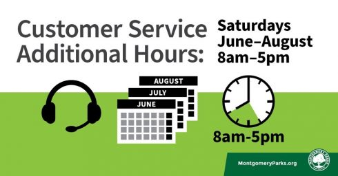 Customer Service Additional Hours: Saturdays June - August 8am - 5pm