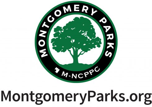 MOntgomery Parks logo with website underneath: MontgomeryParks.org