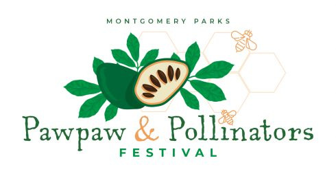 Graphic of the Montgomery Parks 2020 Pawpaw and Pollinators Festival