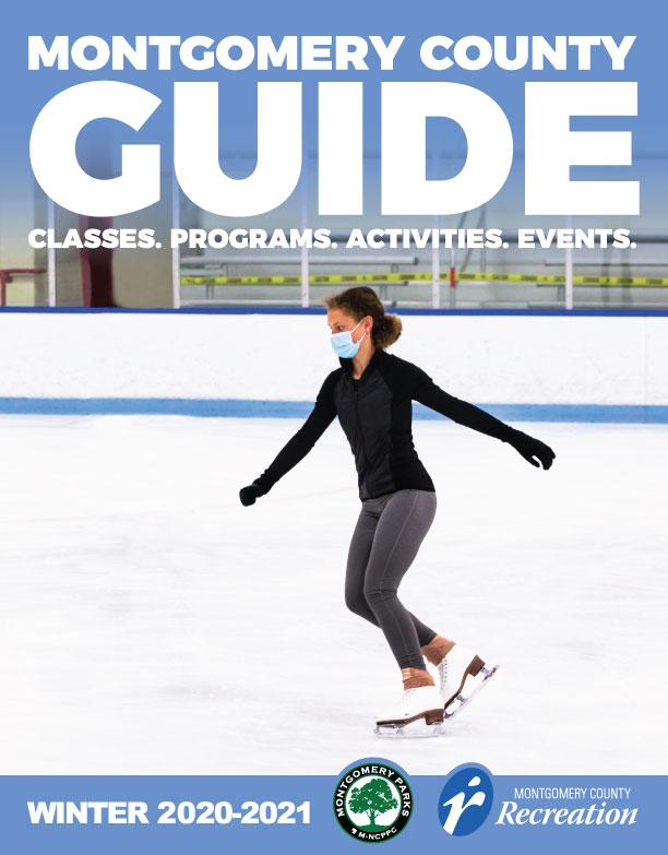 A woman ice skating