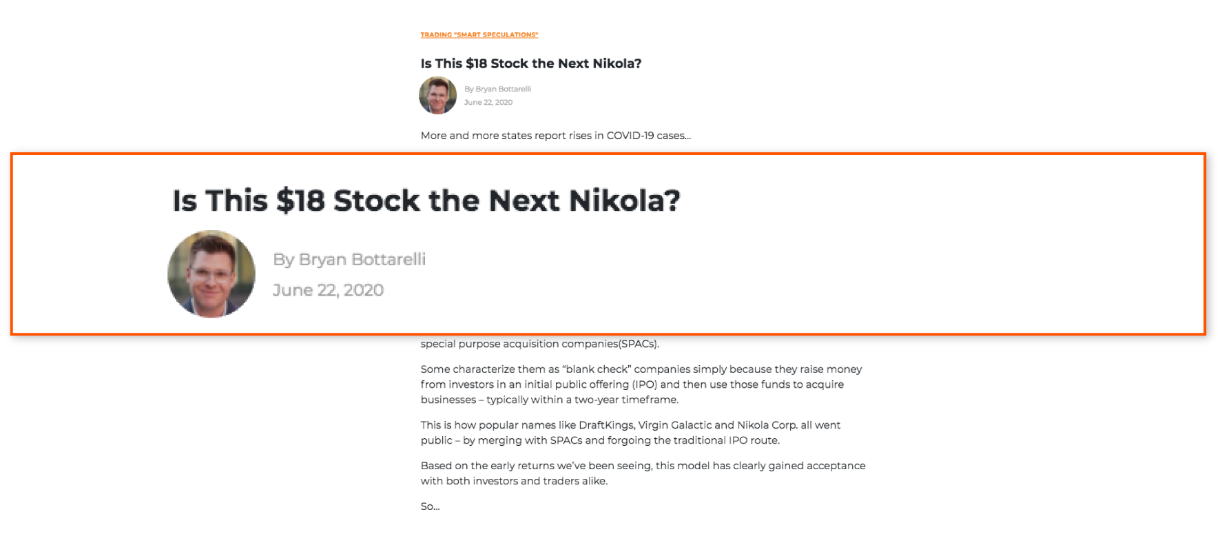 article nikola