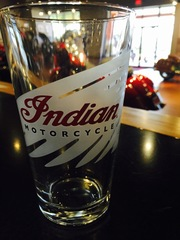 Indian Motorcycle Warbonnet Glass