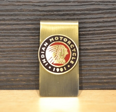 Indian Motorcycle Metal Money Clip