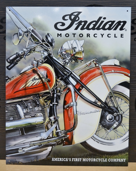 Indian Motorcycle America's Pioneer Sign