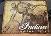 Indian Motorcycle Antiqued Sign