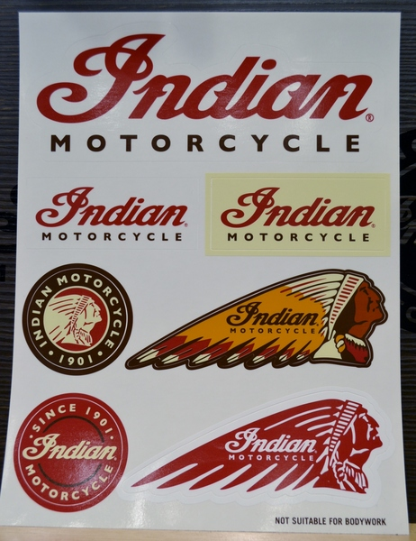 Indian Motorcycle Sticker Set