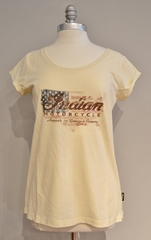 Indian Motorcycle Ladies Flag Logo Tee
