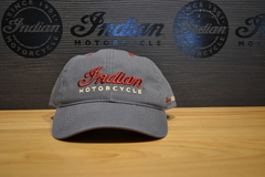 Indian Motorcycle Grey Logo Hat
