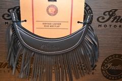 Black Rear Mud Flap with Fringe