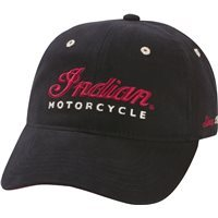 Indian Motorcycle Black Logo Hat