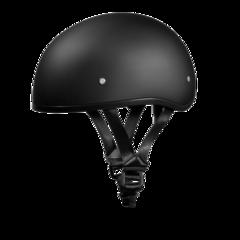 Dull Black Skull Cap