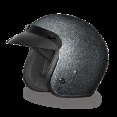 Gunmetal Flake 3/4 Helmet