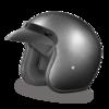 Gunmetal Gray 3/4 Helmet