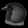 Flat Black 3/4 Helmet
