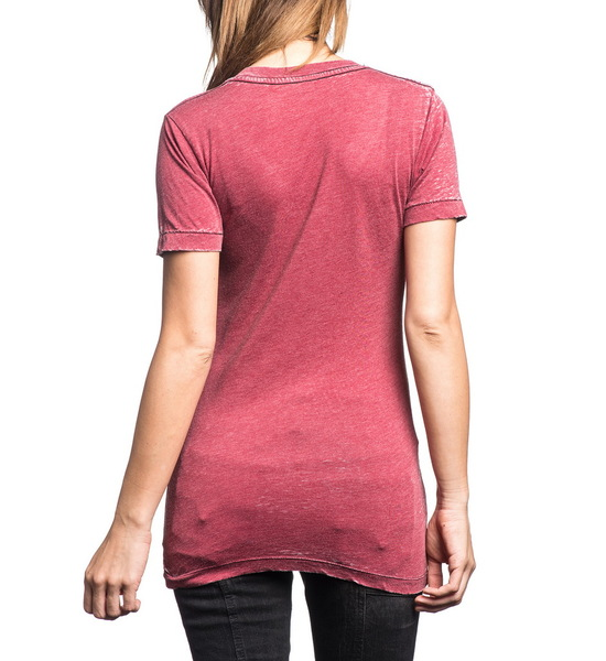 Established Burnout V Neck Tee #ERW19