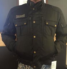 Men's ER Vintage Blk Textile Jacket