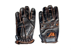 ER Perforated Brown Leather Glove