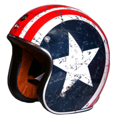TORC 3/4 HELMET REBEL STAR