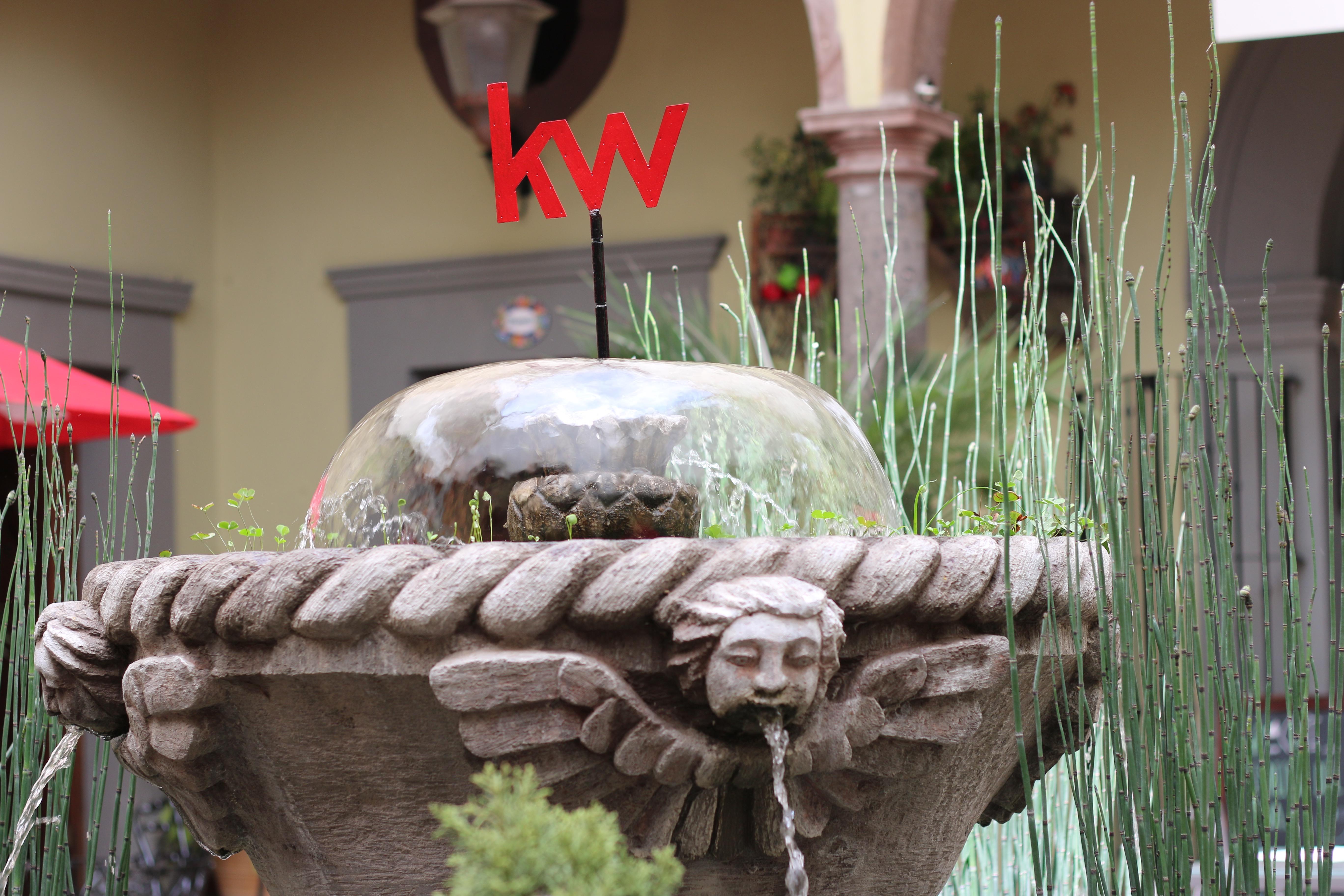 Detalle en cantera de la fuente de KW Allende
