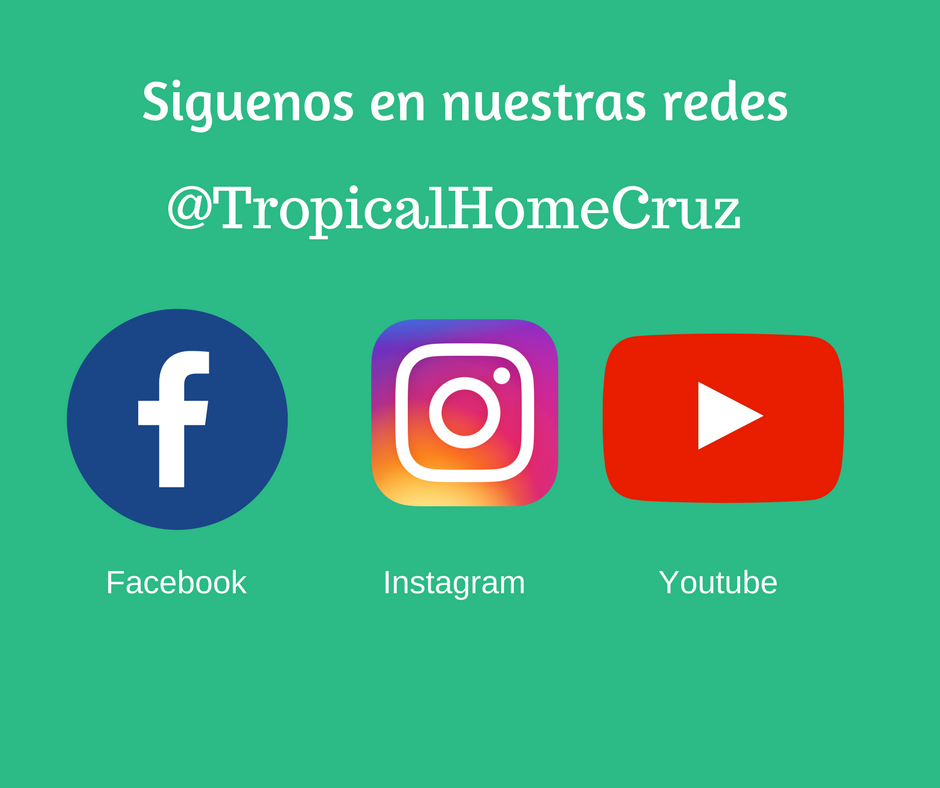 Redes sociales de Inmobiliaria Tropical Home Cruz