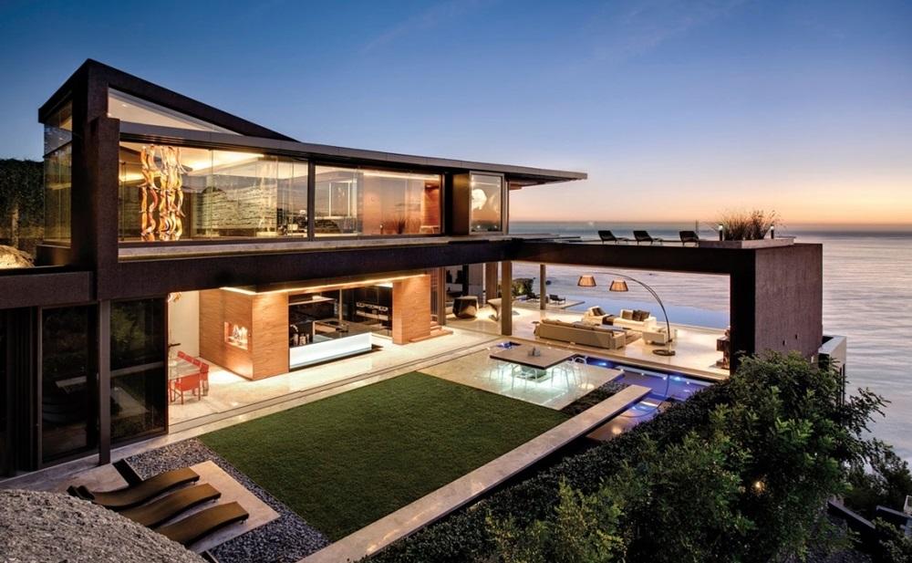 Contemporneo Casas Elegantes Y Modernas Adorno Ideas de