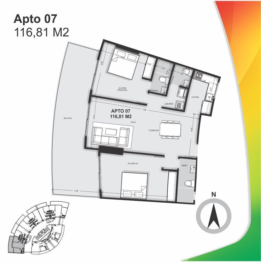 8 de 17: Plano Apartamento