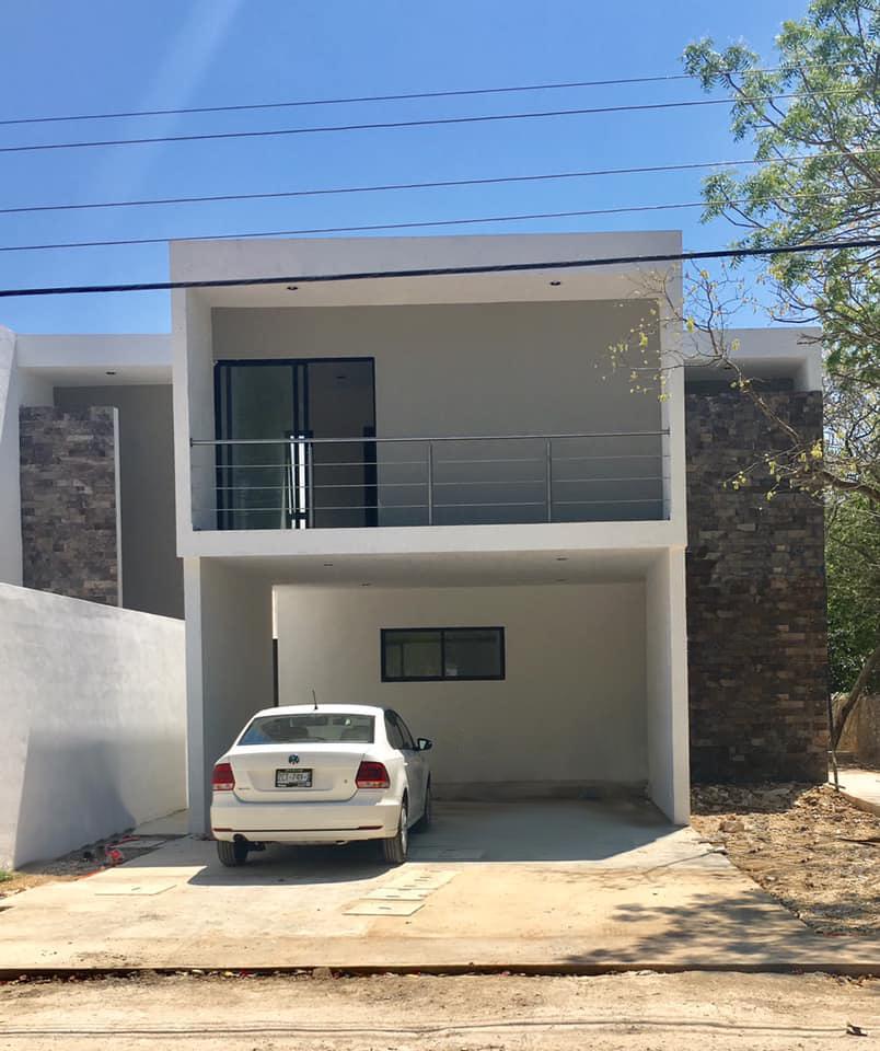 2 de 21: fachada casa en cholul