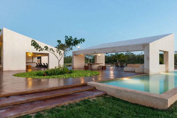 8 de 10: piscina. Terreno en privada Jardines de Rejoyada, Mérida