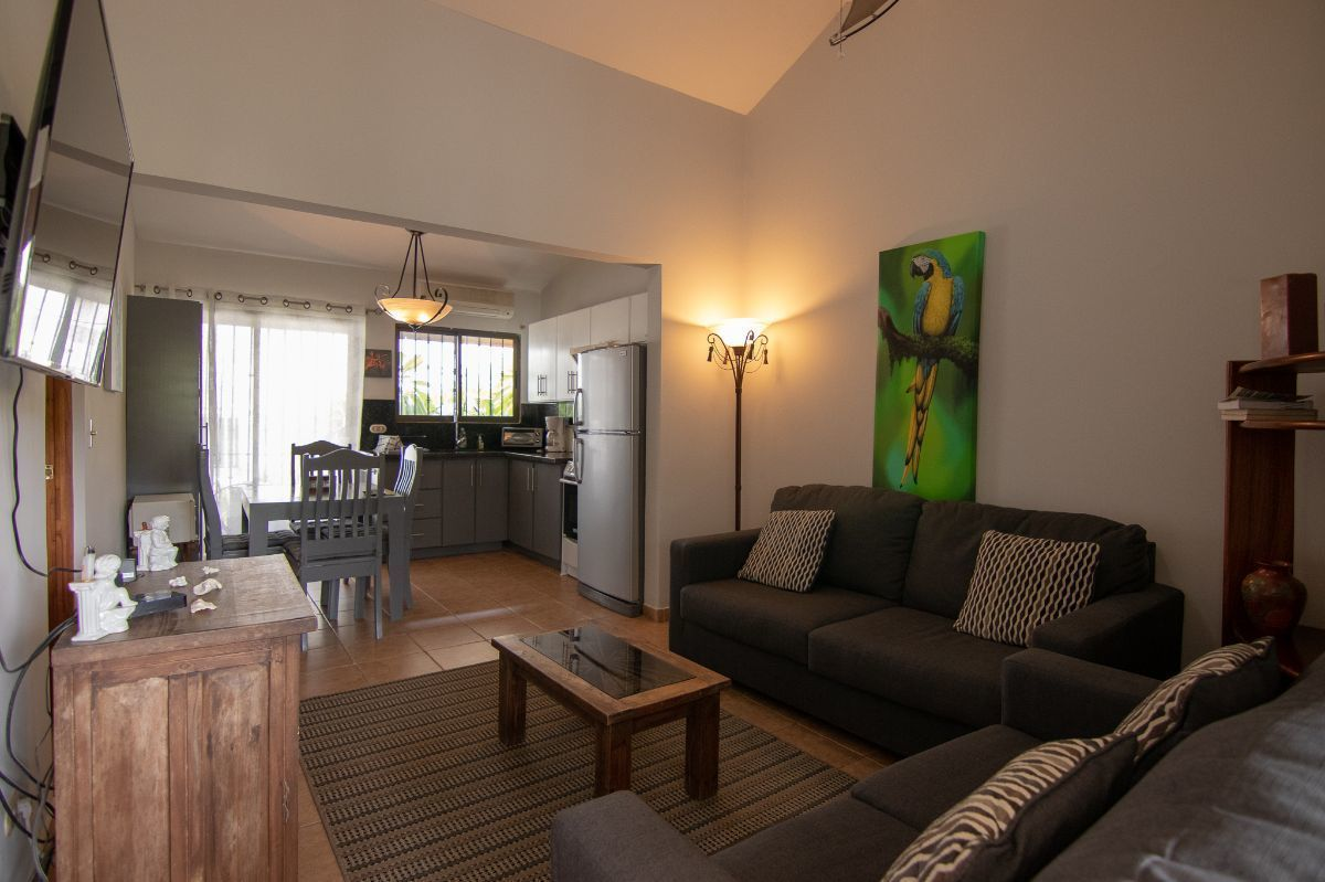3 of 13: Living room and remodeled kitchen
