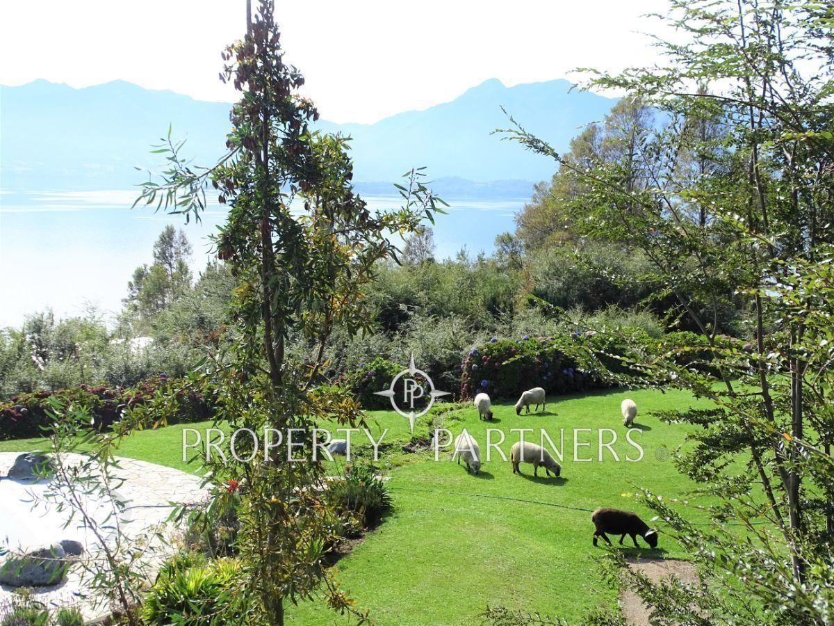 28 de 50: Vista desde el balcón hacia la piscina y áreas verdes
