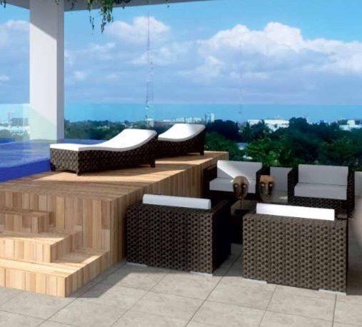 5 de 5: Area Social con terraza, piscina en el ultimo piso