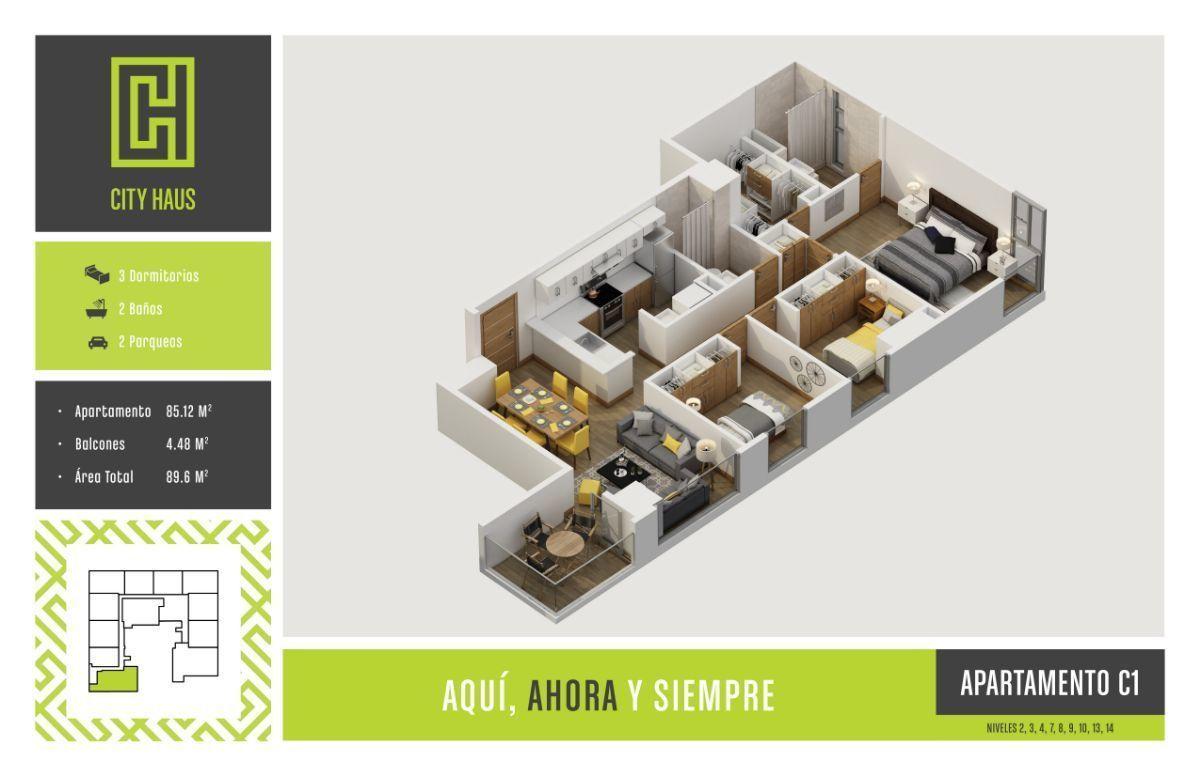 2 de 7: Plano apartamento