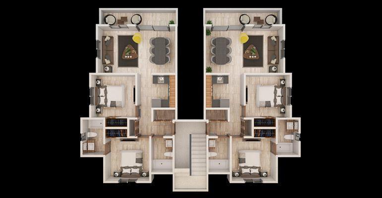 5 de 10: plano de apartamenos hasta tercer piso