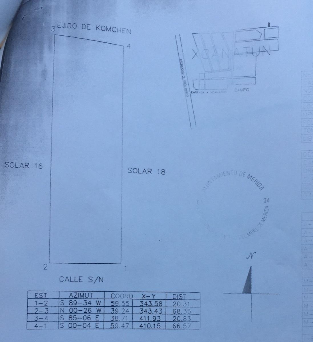 1 de 3: Plano del terreno