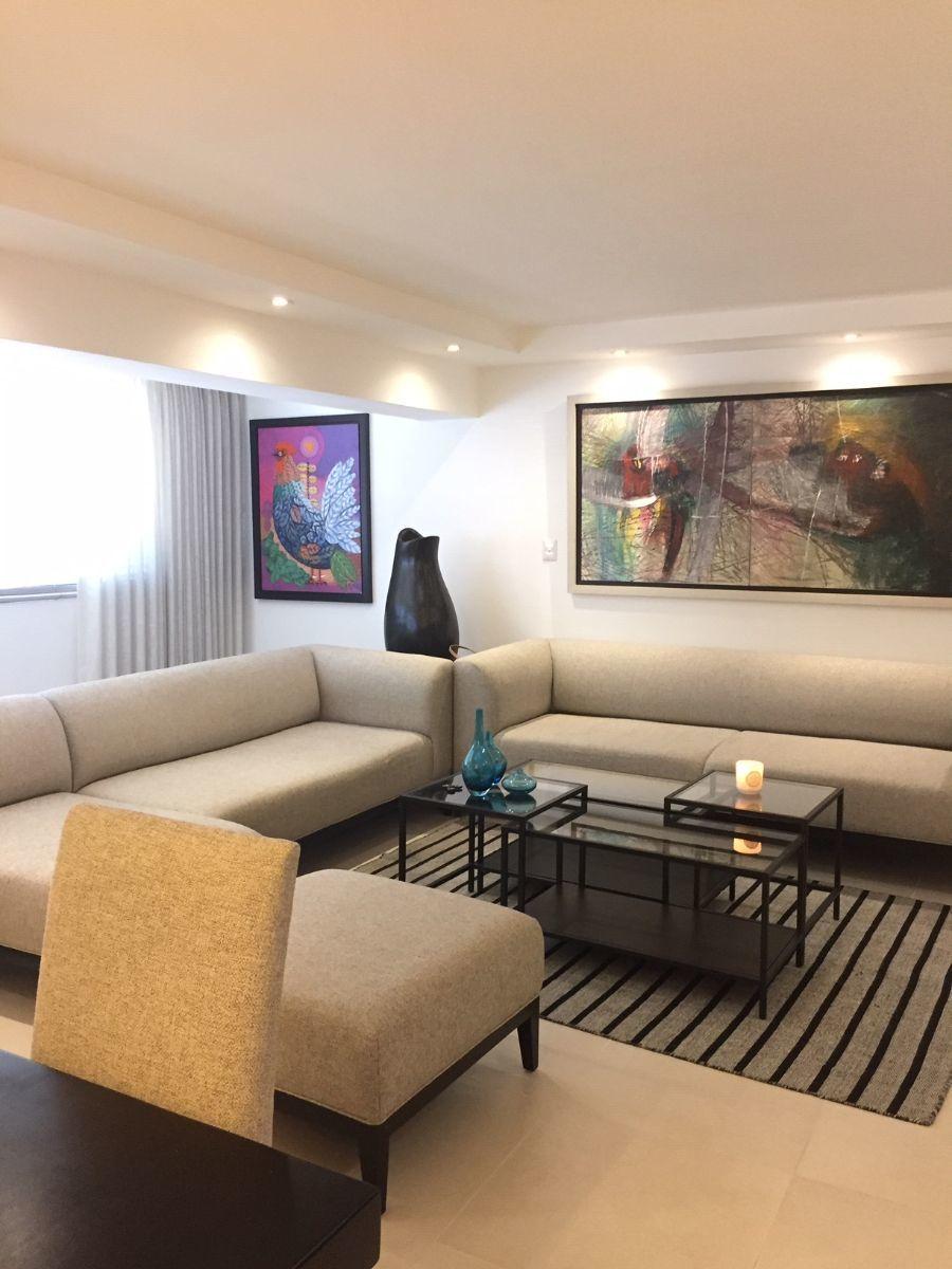 1 de 17: Apartamento amueblado en alquiler en naco. Sala